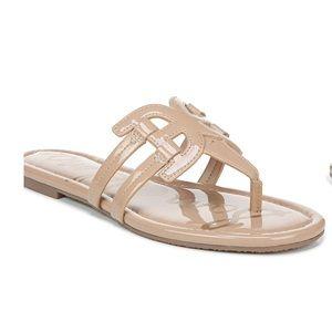 Sam Edelman Cara Beige Patent Slide Sandal 7 NWT